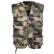 Gilet reporter multipoches sans manche outdoor