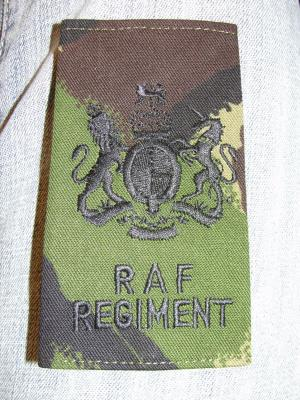 Passant fourreau grade poitrine REGIMENTAL SERGEANT MAJOR camo DPM Royal Air Force RAF